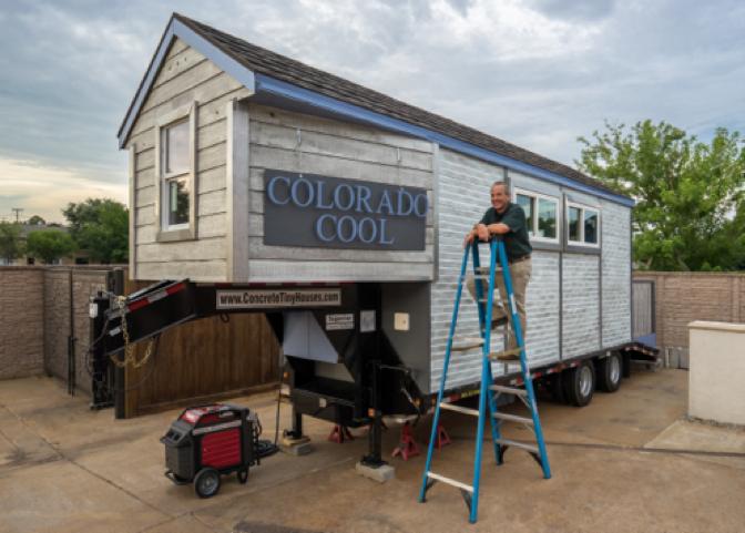 News releases superior concrete tiny house texas for Concrete homes texas